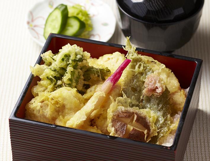 春野菜と鶏の天丼重箱